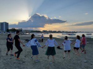 mișcare în aer liber, dansuri pe plajă