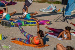 mișcare în aer liber, exerciții pe plajă