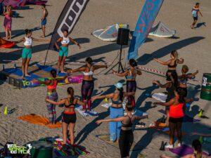 mișcare în aer liber, fitness pe plajă